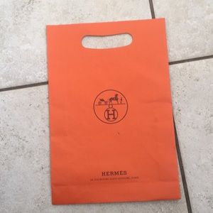 Hermès Classic Orange Double Handle Paper Storage